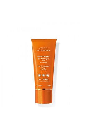 Bronz repair crème solaire visage anti-rides 3 soleils