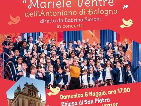 """Domenica 6 maggio – alle ore 17.00 – il Piccolo Coro """"Mariele Ventre"""" dell'Antoniano di Bologna"""