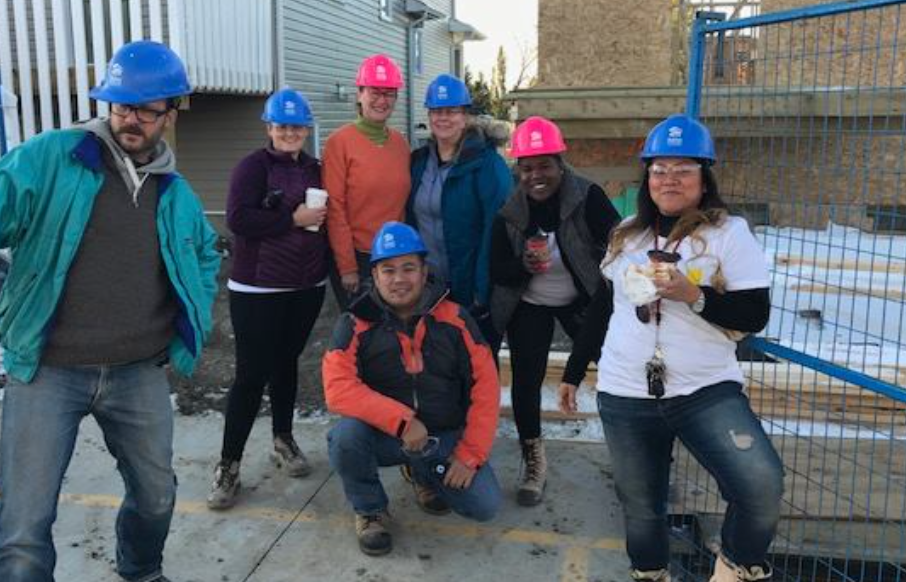 Discovery House staff voluneteering at Habitat for Humanity
