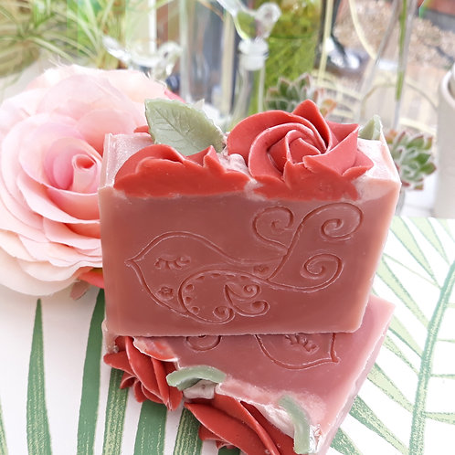 Rose Garden Soap Bar (Palmarosa Geranium & Pink Clay)