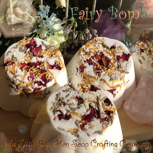 Fairy Bomb Bathing Fizzy (Orange & Geranium)