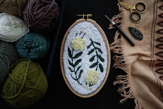【初階入門】Punch Needle刺繡:植物壁掛