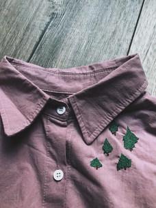 迷你森林,棉麻襯衫