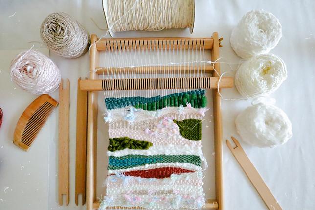 【初階入門】梭織工作坊,微型地層纖維