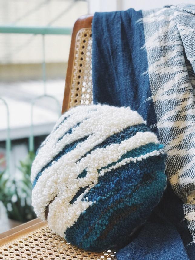 【中階課程】PUNCH NEEDLE ○ 毛線感抱枕