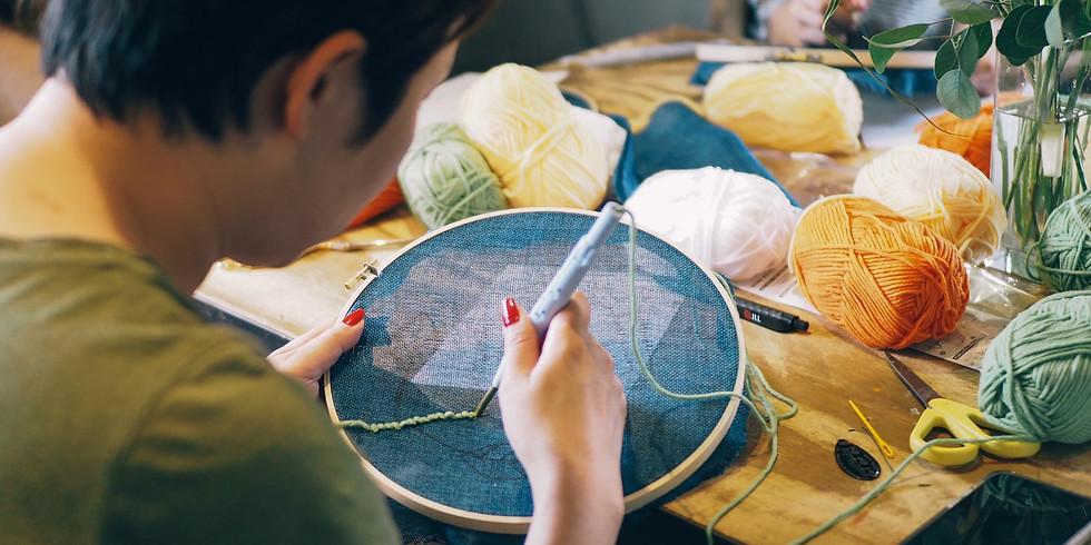 3/14(六) Punch Needle 俄羅斯刺繡課程 - 植物壁掛 | 花蓮 |