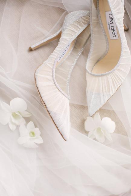 Jimmy Choo bridal heels.