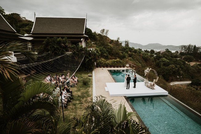 An intimate wedding ceremony at Villa Aye, Phuket.