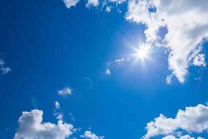 plan canicule ciel bleu