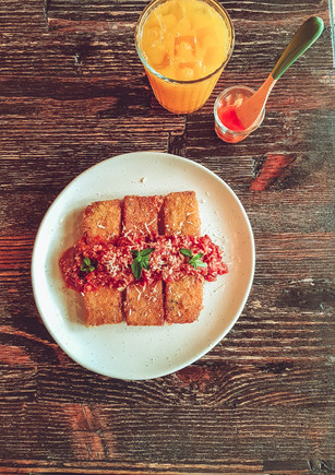 Polenta with Ragu Sauce