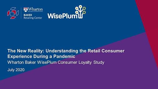 Wharton Baker WisePlum Consumer Loyalty