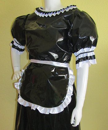 PVC Sissy French Maids Dress & Apron
