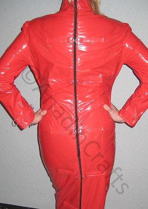 PVC Hobble/Wiggle Dress No Escape Unisex Dress 4-way Zip