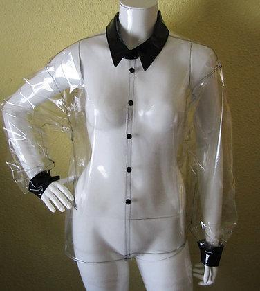 Transparent Clear PVC Long Sleeve Shirt