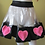 """Thumbnail: Transparent PVC Skater Skirt """"Fluffy Hearts"""""""