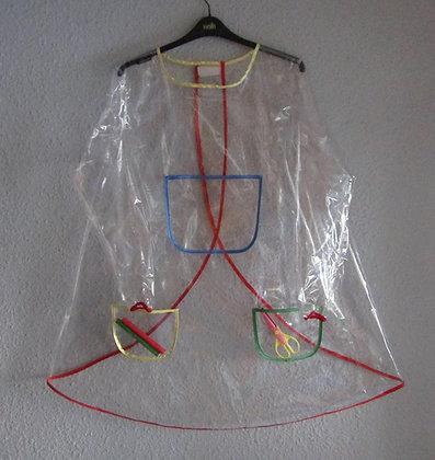PVC VINYL Transparent Coverall Bib Play Apron