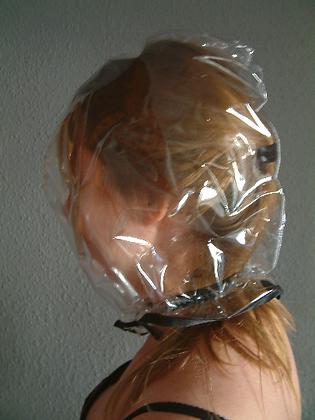 PVC BreathPlay pull-on Gimp Hood. BDSM Bondage Hood various colours.
