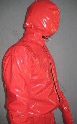 Adult PVC Lockable Body Suit & Hood 100% PVC 3-way zip.
