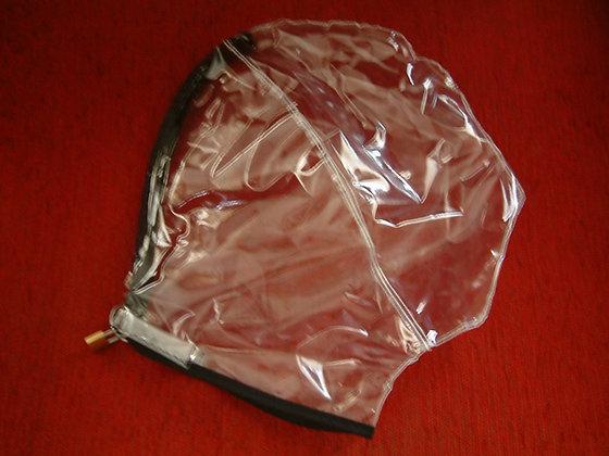 Adult PVC Lockable Breathplay Hood/Mask BDSM Bondage Gimp Hood
