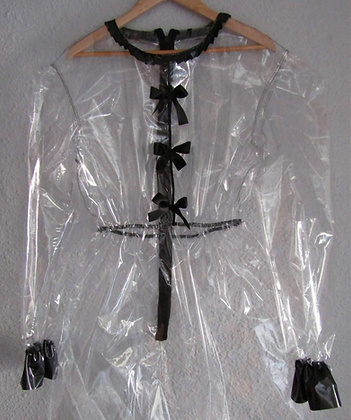 Transparent PVC Vinyl Maids Sissy Dress