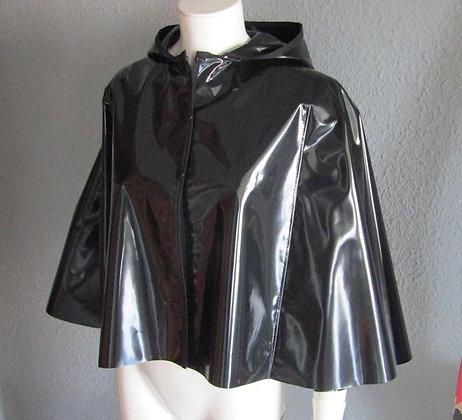 PVC VINYL Short hooded Cape/Cloak - Various colours