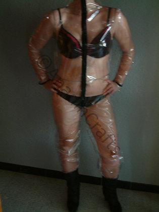 Unisex Transparent PVC Boiler Suit/Jump Suit