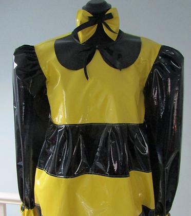 PVC Romper Adult Baby lockable BumbleBee Suit & Headpiece Bow