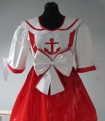 Adult Baby PVC ABDL Sissy Sailor Dress