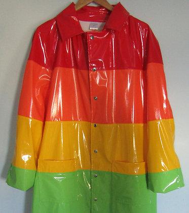 PVC Rainbow Coat - Handmade Unisex