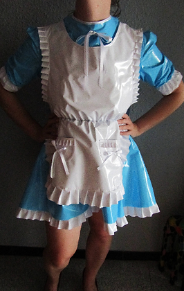"PVC ""Alice"" Lockable Bow Kay Unisex Sissy Dress ABDL"