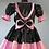 Thumbnail: PVC Black & Pink Sissy Knee length Dress