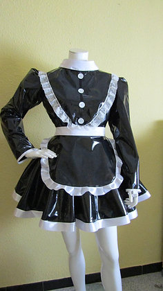 PVC Unisex Lockable Maids Dress. Black, White or Pink