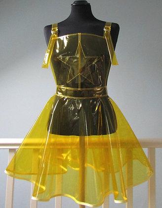 PVC Pinafore Dungaree Dress