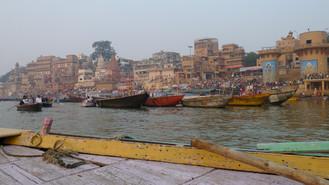 "Day #54: Varanasi, the ""orange moon"" city"