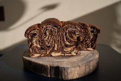 Brioche de Chocolate Preto