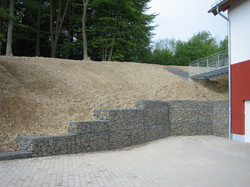 Gabion Retaining Wall @ Parking Lots
