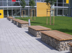 Gabion Bench @ Commercial Building