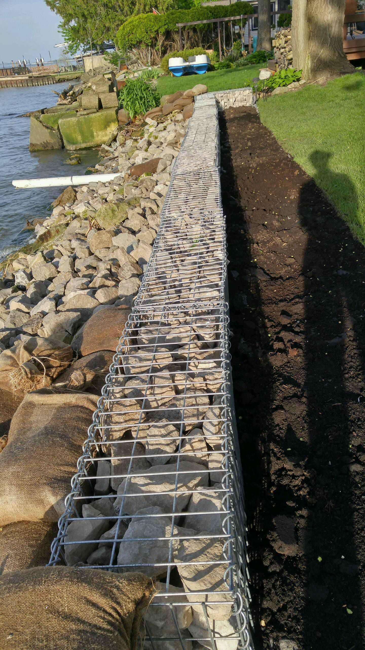 Shoreline Gabion Wall