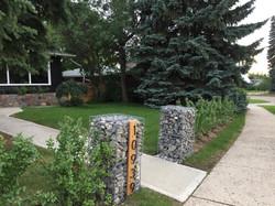 Gabion Canada street sign