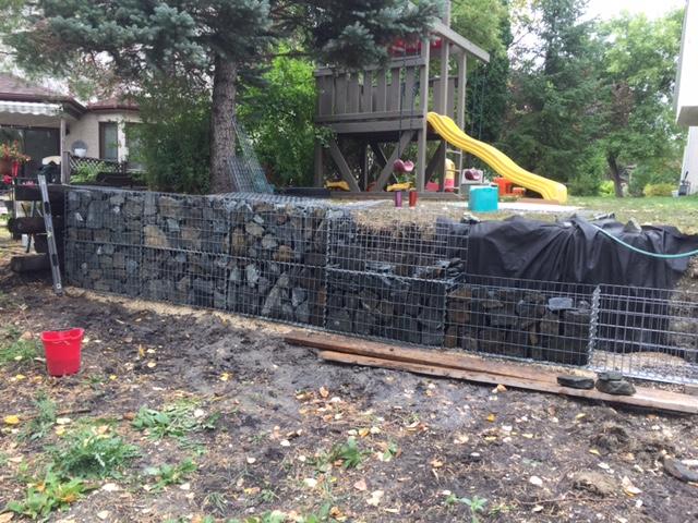 Playground Retaining Wall @ Backyard