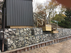Shoreline Gabion Wall - Lake Huron