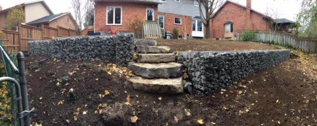 Gabion Retaining Wall @ Back Garden