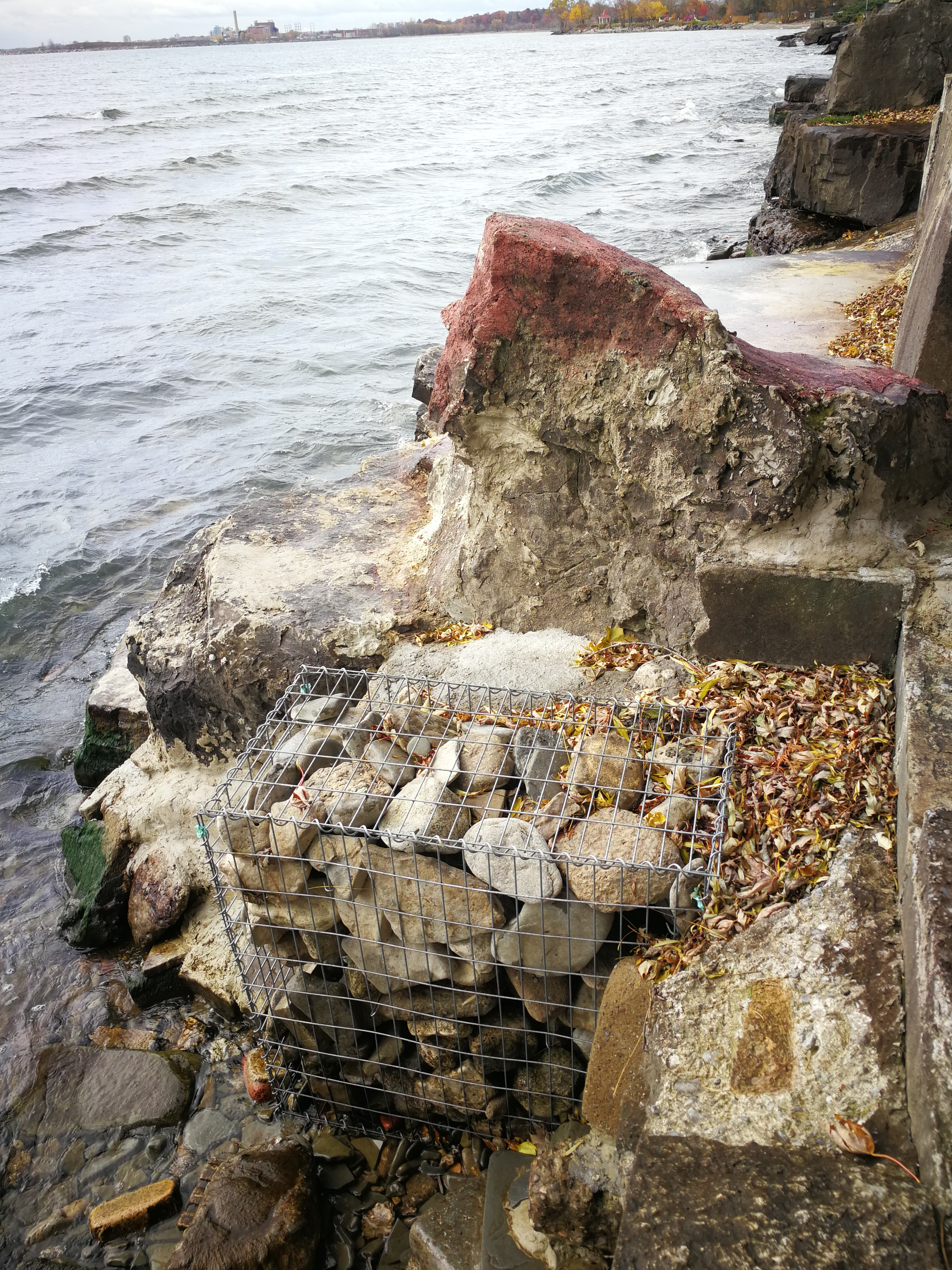 Gabion soil erosion control @ Lake