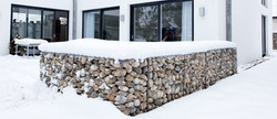 Free Standing Gabion Wall @ Backyard