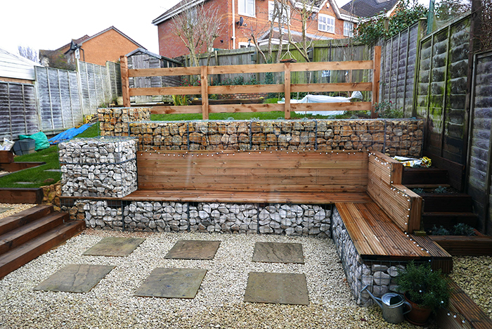 Gabion Furniture @ Backyard