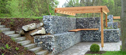 Gabion Retaining Wall and Furniture
