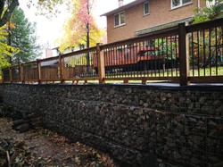 Gabion Retaining Wall @ Backyard