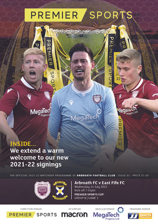 MORE PAGES - SAME PRICE AS WE CONTINUE ARBROATH PROGRAMME SPONSORSHIP
