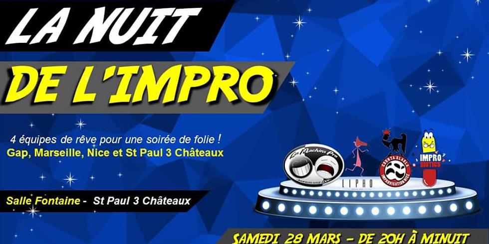 LA NUIT DE L'IMPRO - SAINT PAUL 3 CHATEAUX - 28 MARS 2020