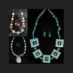 Natural stones & Ceramic Necklace sets.
